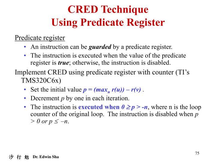 CRED Technique