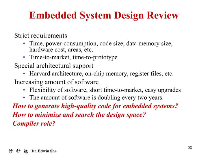 Embedded System Design Review
