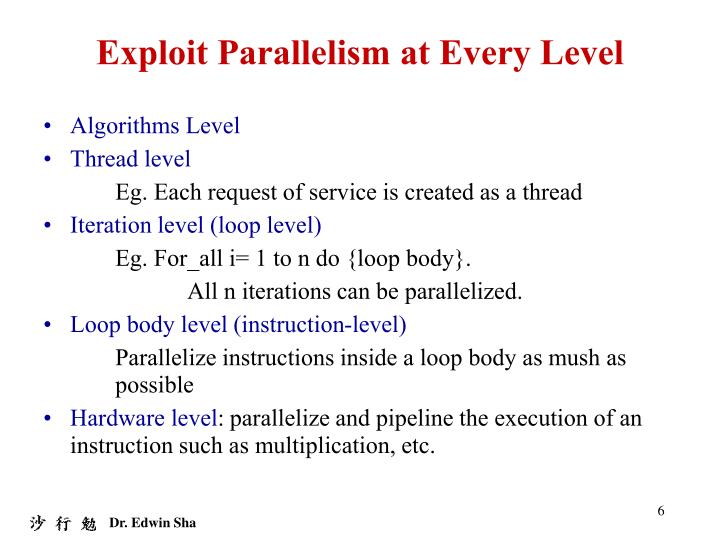 Exploit Parallelism at Every Level