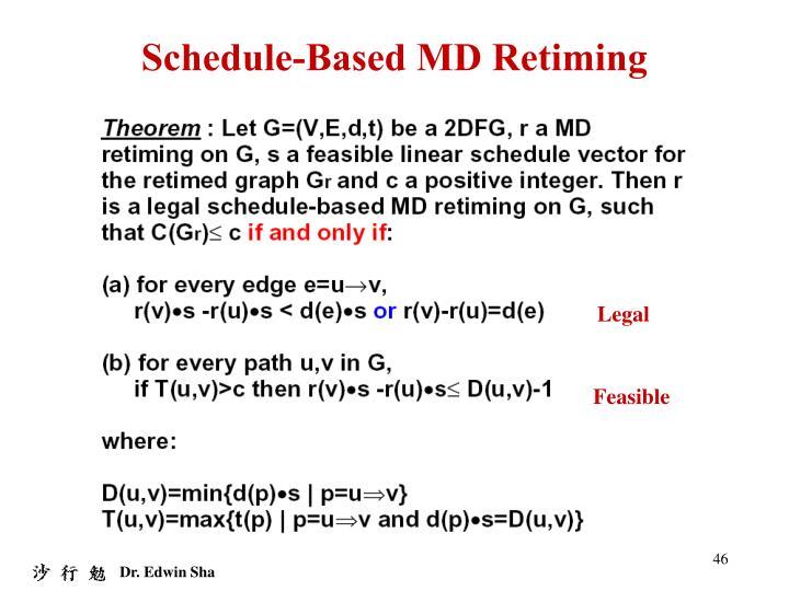 Schedule-Based MD Retiming