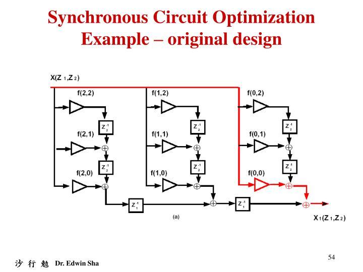 Synchronous Circuit Optimization Example – original design