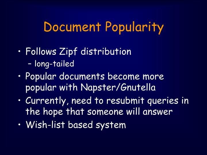 Document Popularity