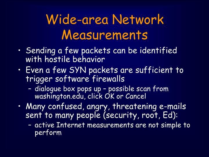 Wide-area Network Measurements