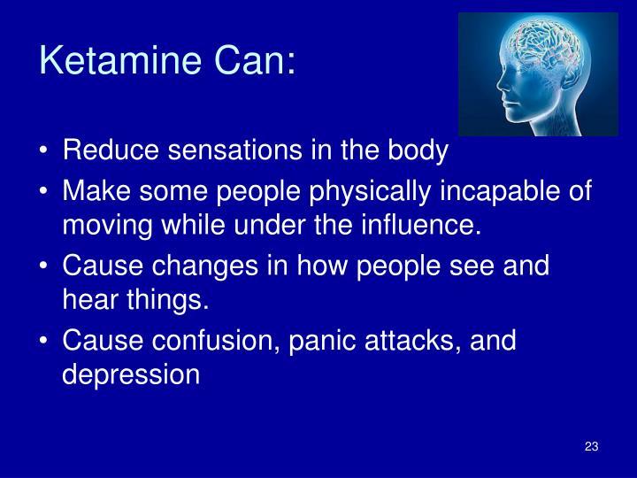 Ketamine Can: