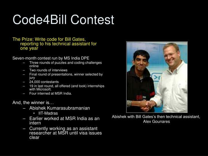 Code4Bill Contest