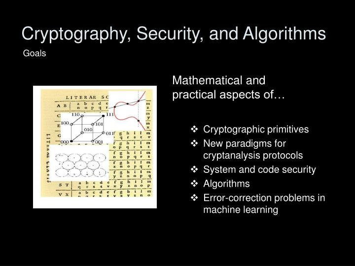 Cryptography, Security, and Algorithms