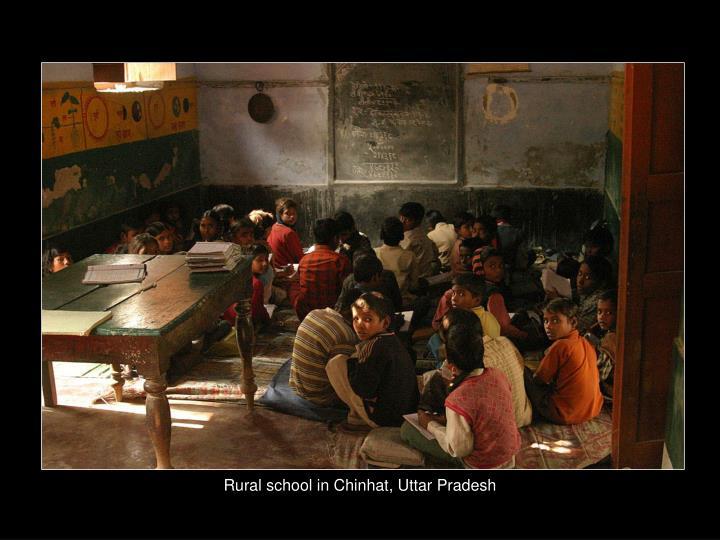 Rural school in Chinhat, Uttar Pradesh