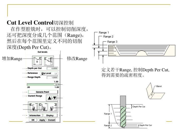 Cut Level Control