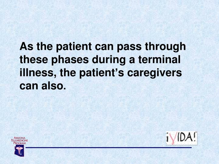 As the patient can pass through these phases during a terminal illness, the patient's caregivers  can also