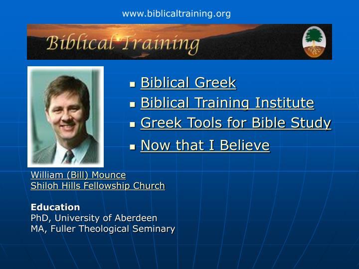 www.biblicaltraining.org