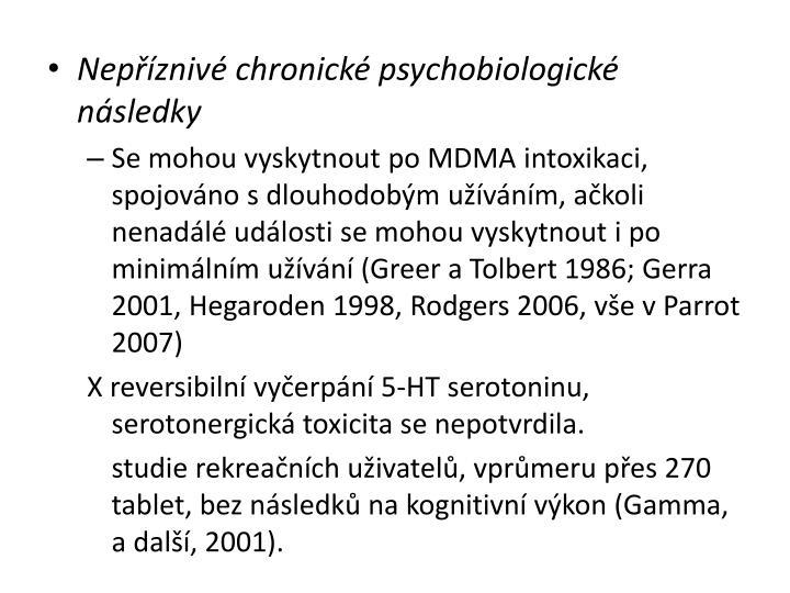 Nepříznivé chronické psychobiologické následky