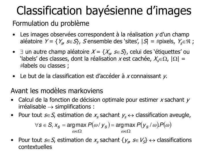 Classification bayésienne d'images