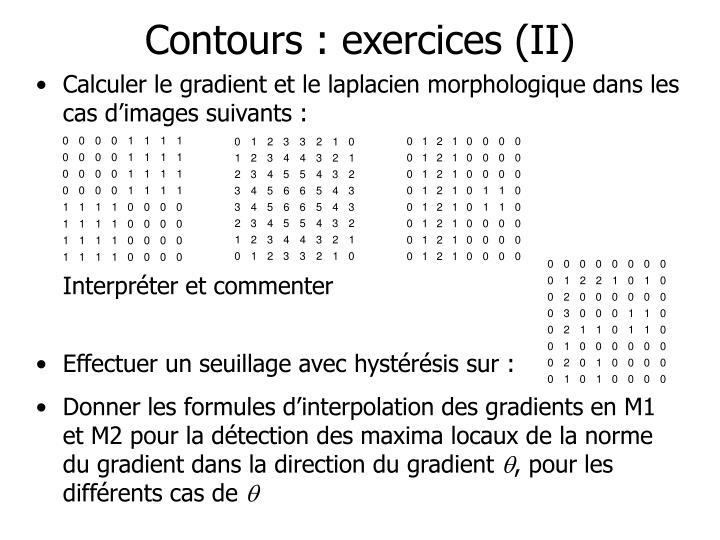 Contours : exercices (II)