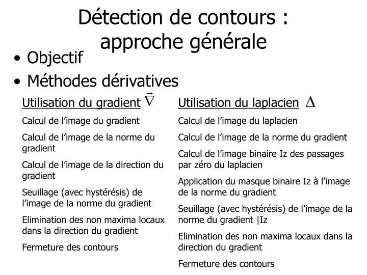 Détection de contours :
