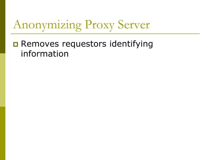 Anonymizing Proxy Server