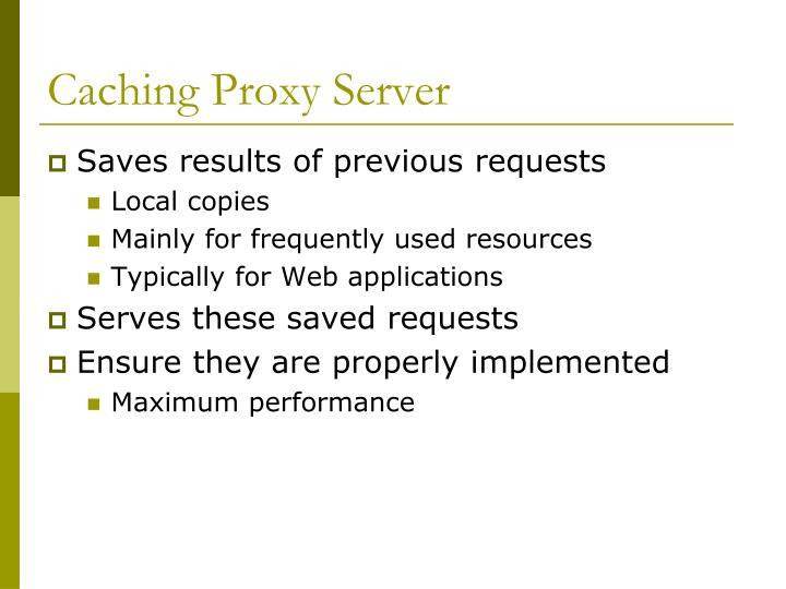 Caching Proxy Server