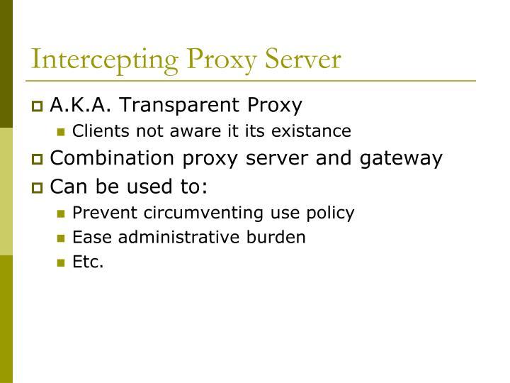 Intercepting Proxy Server