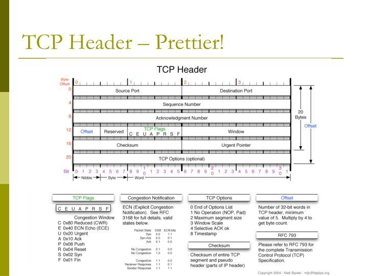 TCP Header – Prettier!