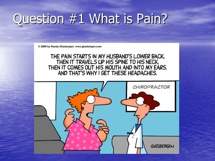 Question #1 What is Pain?