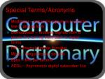 special terms acronyms
