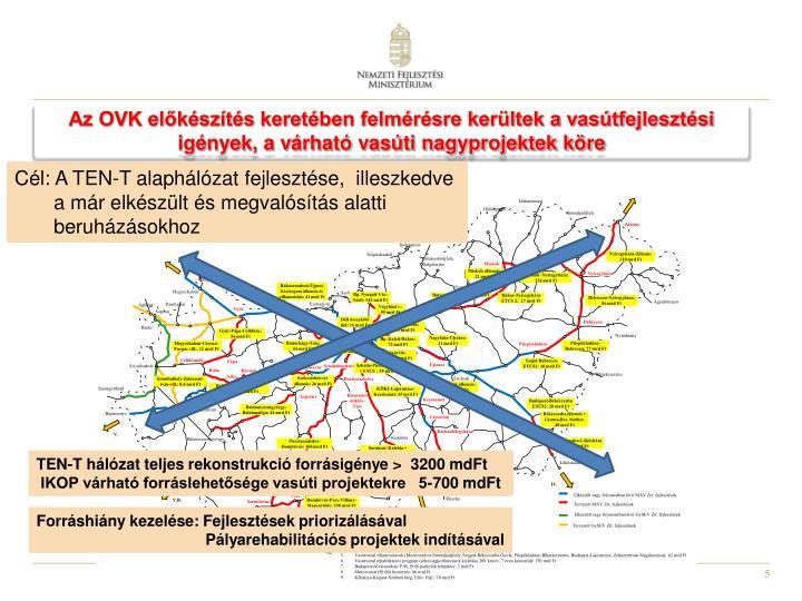 Az OVK előkészítés keretében felmérésre kerültek a vasútfejlesztési igények, a várható vasúti nagyprojektek köre