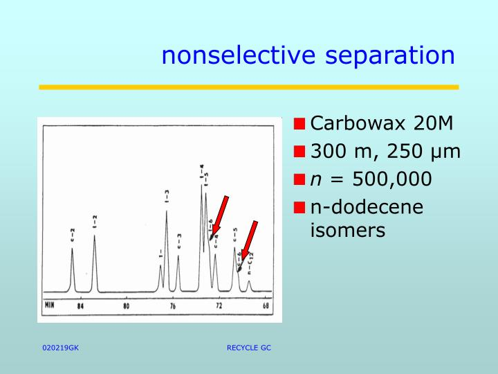 nonselective separation