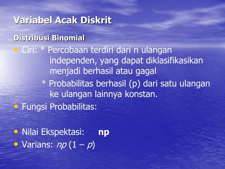 Variabel Acak Diskrit