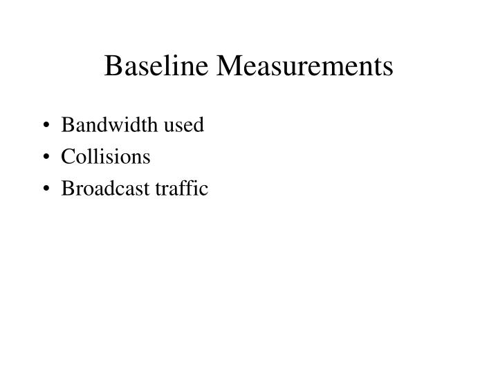 Baseline Measurements