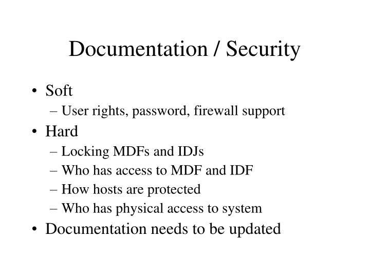 Documentation / Security