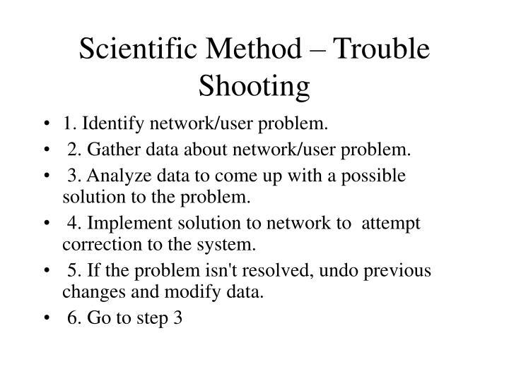 Scientific Method – Trouble Shooting