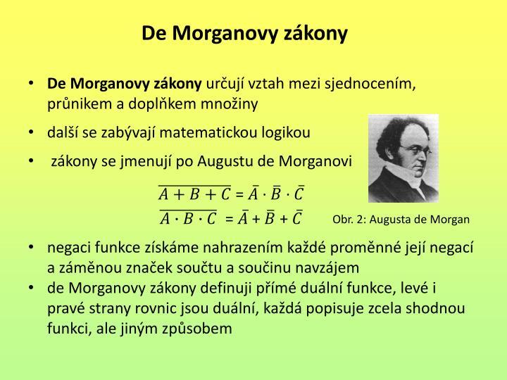 De Morganovy zákony