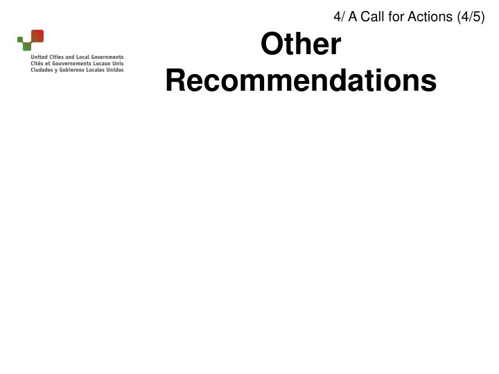 4/ A Call for Actions (4/5)