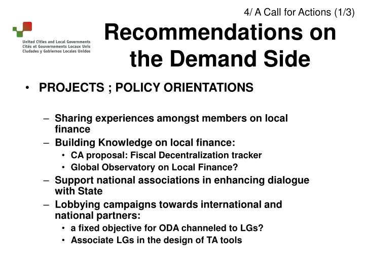 PROJECTS ; POLICY ORIENTATIONS