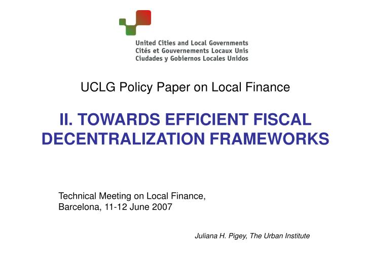 UCLG Policy