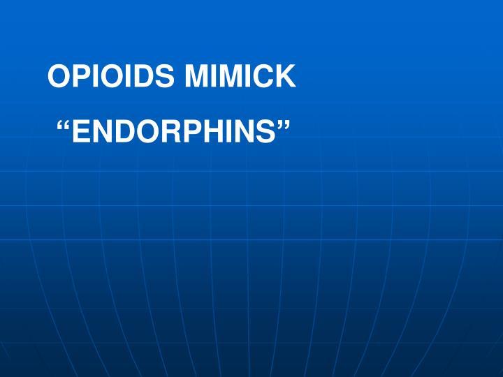 OPIOIDS MIMICK