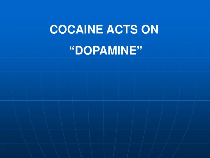 COCAINE ACTS ON