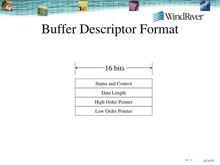 Buffer Descriptor Format