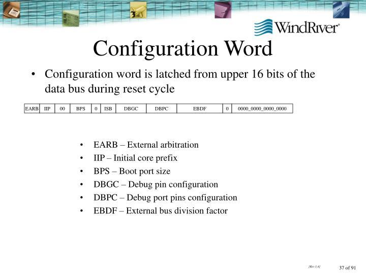 Configuration Word