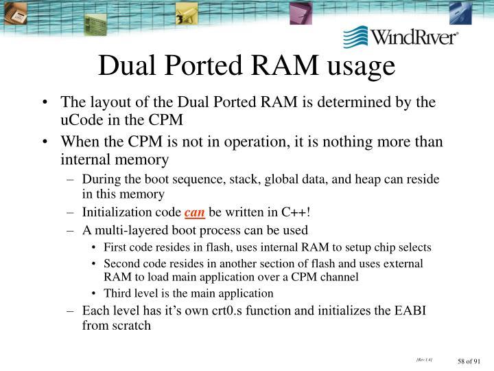 Dual Ported RAM usage