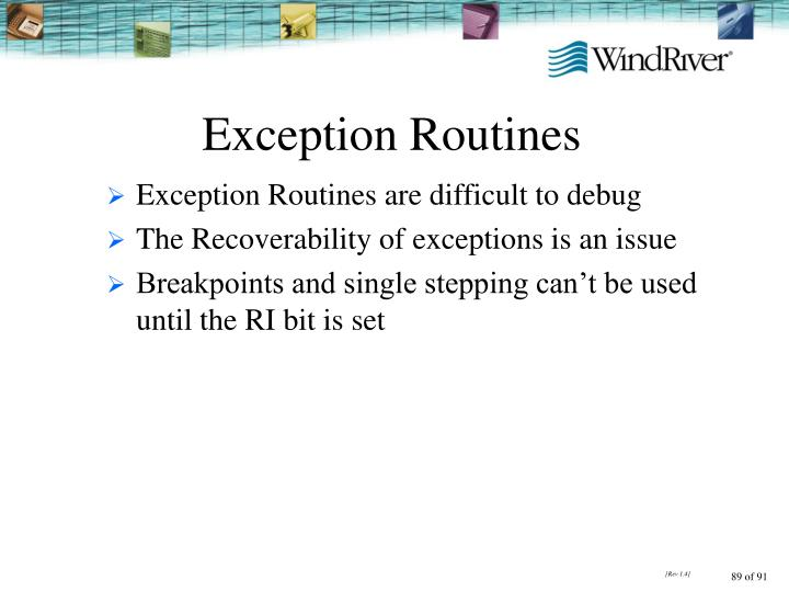 Exception Routines