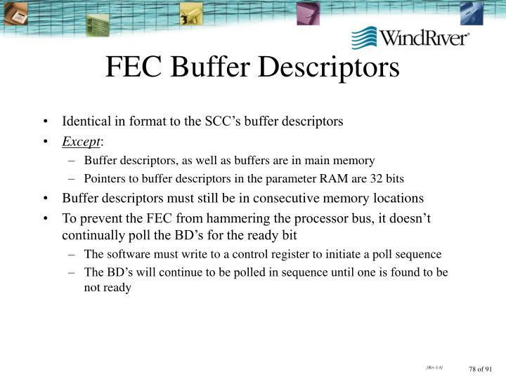 FEC Buffer Descriptors