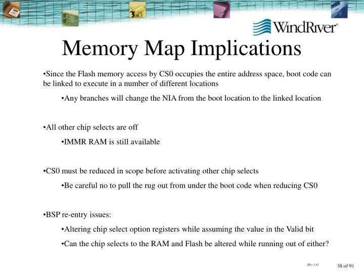 Memory Map Implications