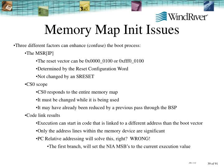 Memory Map Init Issues