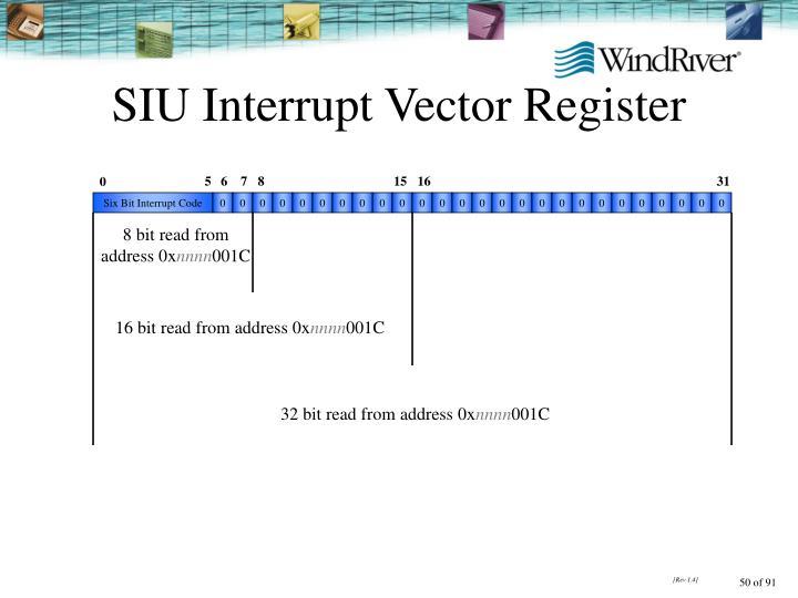 SIU Interrupt Vector Register