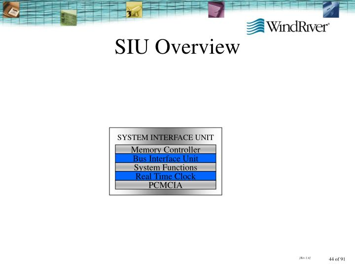 SIU Overview