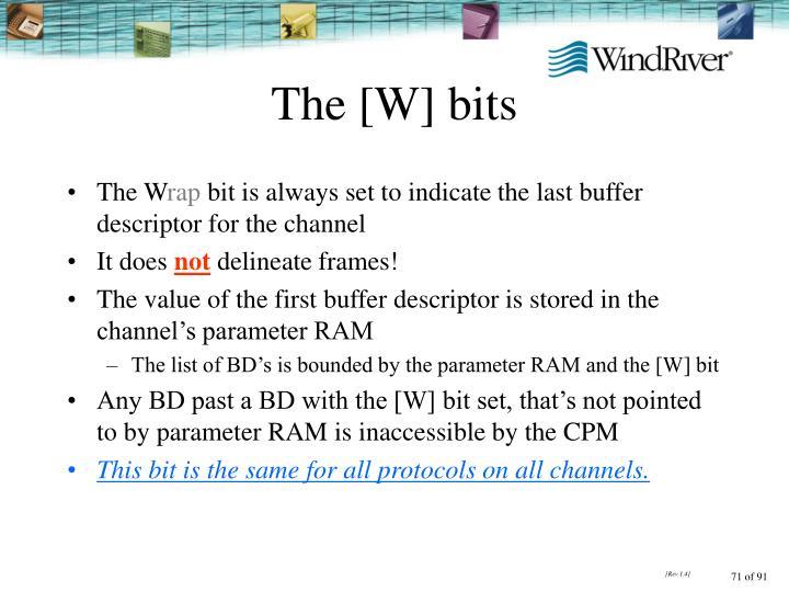 The [W] bits