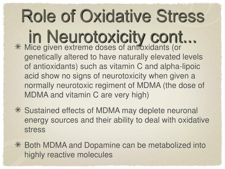 Role of Oxidative Stress in Neurotoxicity cont...