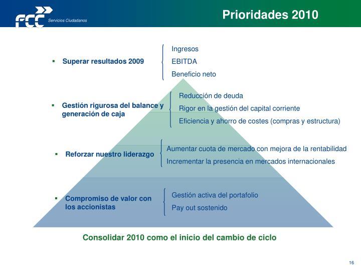 Prioridades 2010