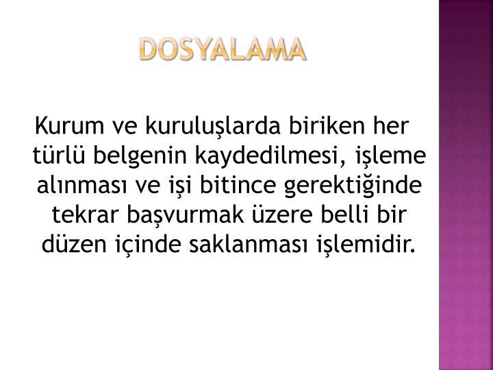 Dosyalama