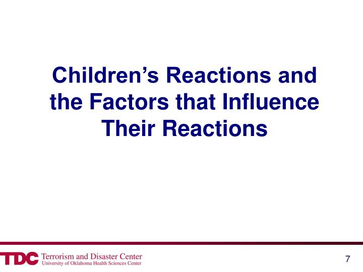 Children's Reactions and